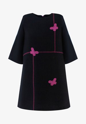 WITH APPLIQUES - Day dress - black