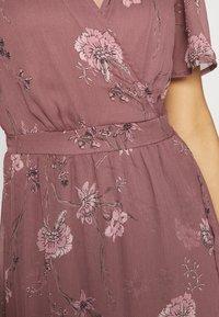 Vero Moda - VMWONDA WRAP DRESS  - Długa sukienka - rose brown - 5
