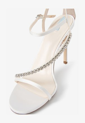 ASYMMETRIC JEWEL - High heeled sandals - off-white