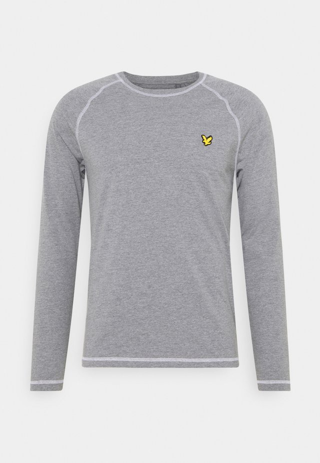 CONTRAST SEAMS BASELAYER - T-shirt à manches longues - mid grey marl