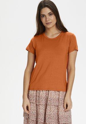 RATANPW TS - Basic T-shirt - orange sunset