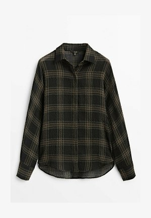 MIT POLO KRAGEN  - Koszula - black