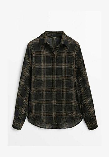 MIT POLO KRAGEN  - Button-down blouse - black