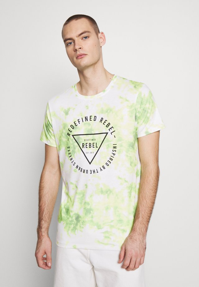 UNISEX TOMMY TEE - Printtipaita - white