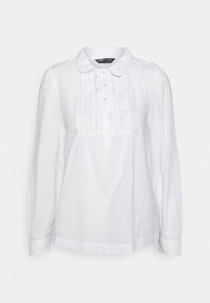 FRILL COLLAR - Blusa - white