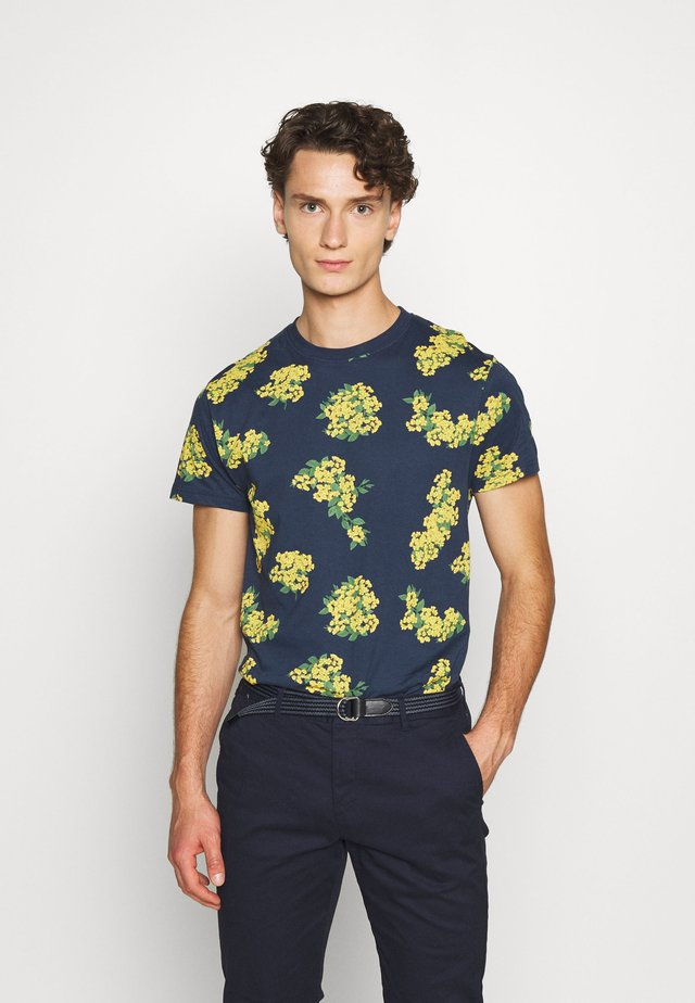 ELLIOT REPEAT PRINT TEE  - T-shirt med print - navy
