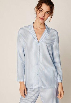 OBERTEIL MIT BLAUEN STREIFEN  - Pyjama top - light blue