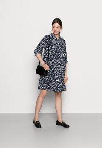 MAMALICIOUS - MLGLOMMA SHIRT DRESS - Shirt dress - navy blazer/snow white - 1
