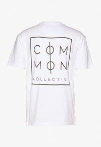 Common Kollectiv - UNISEX ZONE  - T-shirt z nadrukiem - white - 1