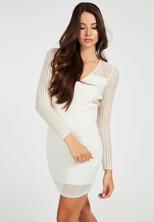 CROCHET - Shift dress - blanc