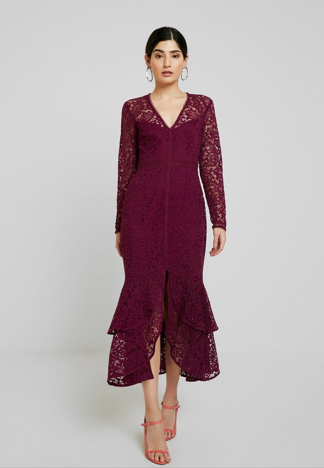 MICHELLE DRESS - Cocktail dress / Party dress - plum