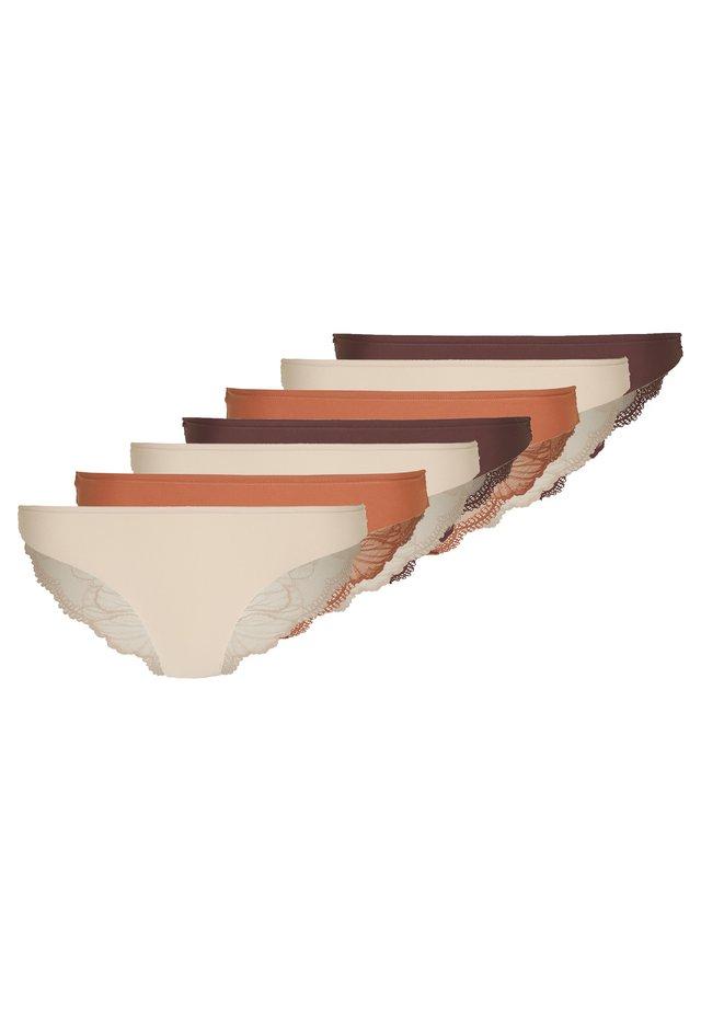7 PACK - Figi - brown/tan/nude