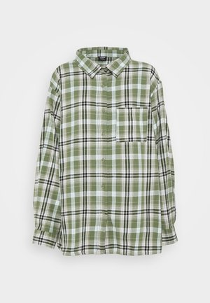 BOYFRIEND - Button-down blouse - jennifer forest green