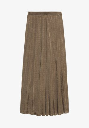 PLISSE SKIRT - Maxi skirt - chocolate chip