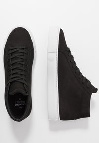 GARMENT PROJECT - TYPE MID SLIM SOLE - Korkeavartiset tennarit - black - 3
