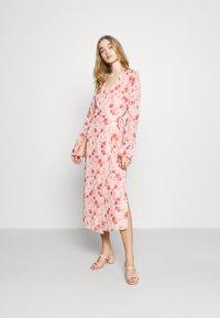 NA-KD - TIE STRAP OVERLAP DRESS - Day dress - rose - 1