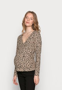 Pieces Maternity - PCMPOLLY WRAP - Jumper - warm taupe - 0