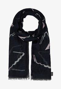 Emporio Armani - STOLE MONOCHROME EAGLE PRINT - Sjal / Tørklæder - black - 1