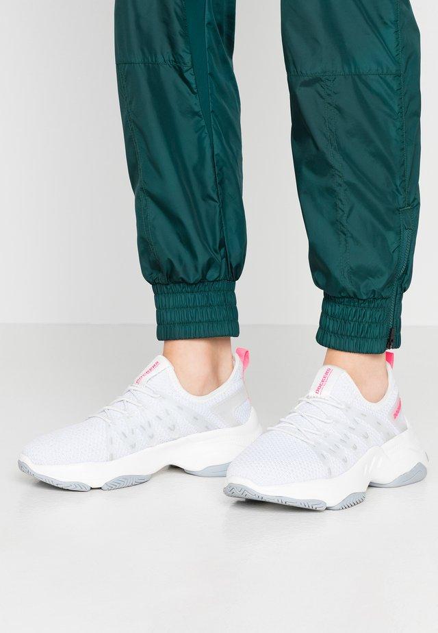 Slip-ons - weiß/neon pink