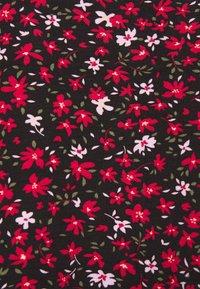 Even&Odd - Midi high slit high waisted skirt - Pennkjol - black/multi-coloured - 6