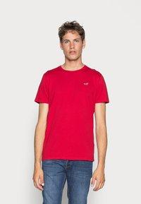 Hollister Co. - 5 PACK CREW  - Camiseta estampada - white/grey/red/navy texture/black - 3