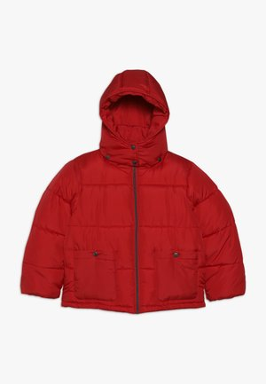 STEHKRAGEN KAPUZE - Winter jacket - rot
