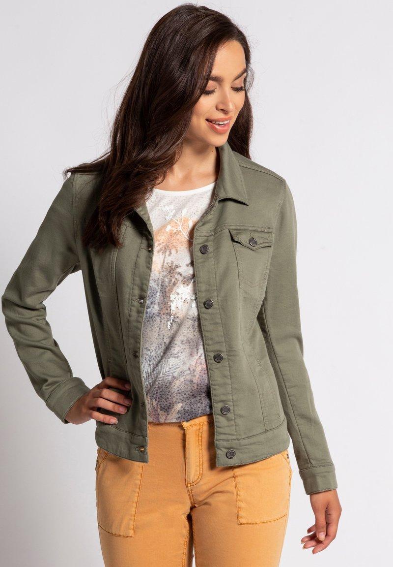 GINA LAURA - Denim jacket - khakigrün