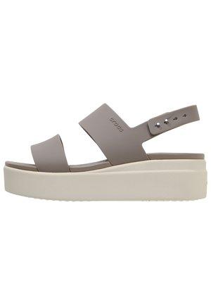 BROOKLYN LOW WEDGE - Platform sandals - mushroom/stucco