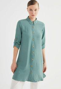 Trendyol - Button-down blouse - green - 0