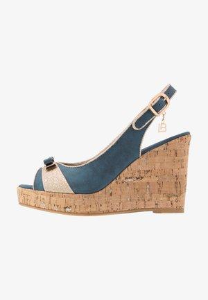 Sandali con tacco - blue