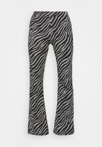 ONLY - ONLLIVE LOVE FLARED PANTS - Leggings - Trousers - dark grey - 4