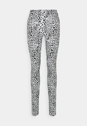 NMKERRY MARBLE  - Leggings - Trousers - bright white/black