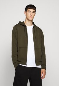 Polo Ralph Lauren - DOUBLE-KNIT FULL-ZIP HOODIE - Tröja med dragkedja - company olive - 0