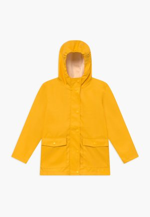 NKNMIL RAIN JACKET - Waterproof jacket - golden rod