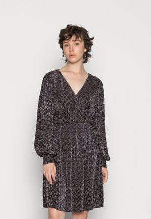 ONLVIA SHORT DRESS - Kokteilinė suknelė / vakarėlių suknelė - black/beige