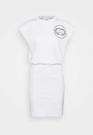COULISSE DRESS - Jerseykleid - white