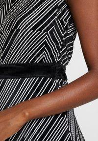 Esprit Collection - PRINTED PLISSE - Shift dress - black - 6