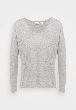 Strikkegenser - heather grey