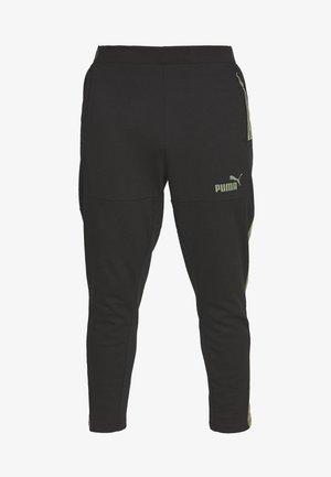 CASUAL PANT - Teplákové kalhoty - black/deep lichen green