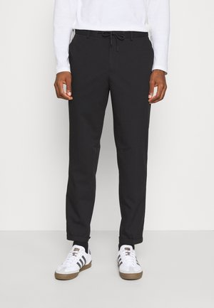 SLHSLIMTAPERED GUARD STRING PANTS  - Trousers - black