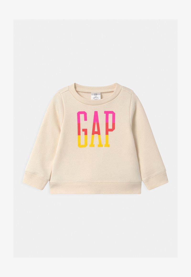GAP - TODDLER GIRL LOGO CREW - Sweatshirt - ivory frost