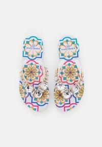 KHARISMA - T-bar sandals - bianco/multicolor - 0