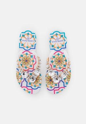 T-bar sandals - bianco/multicolor