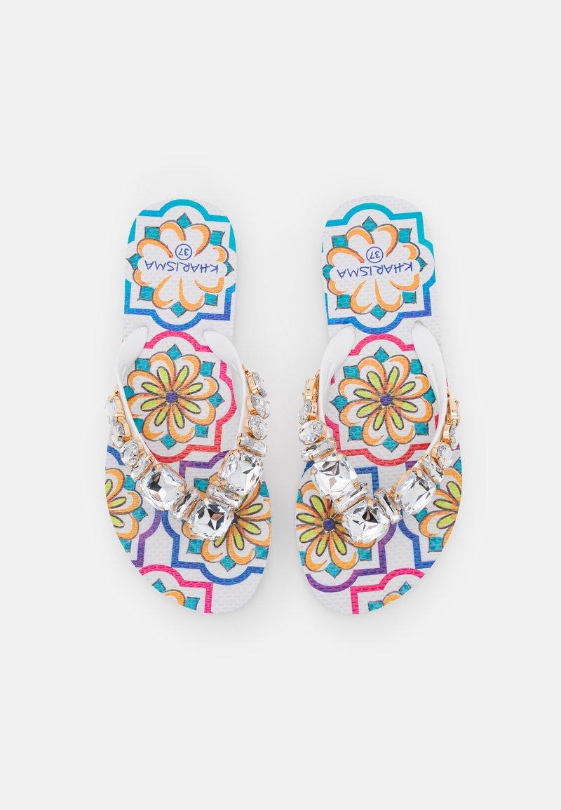 KHARISMA - T-bar sandals - bianco/multicolor