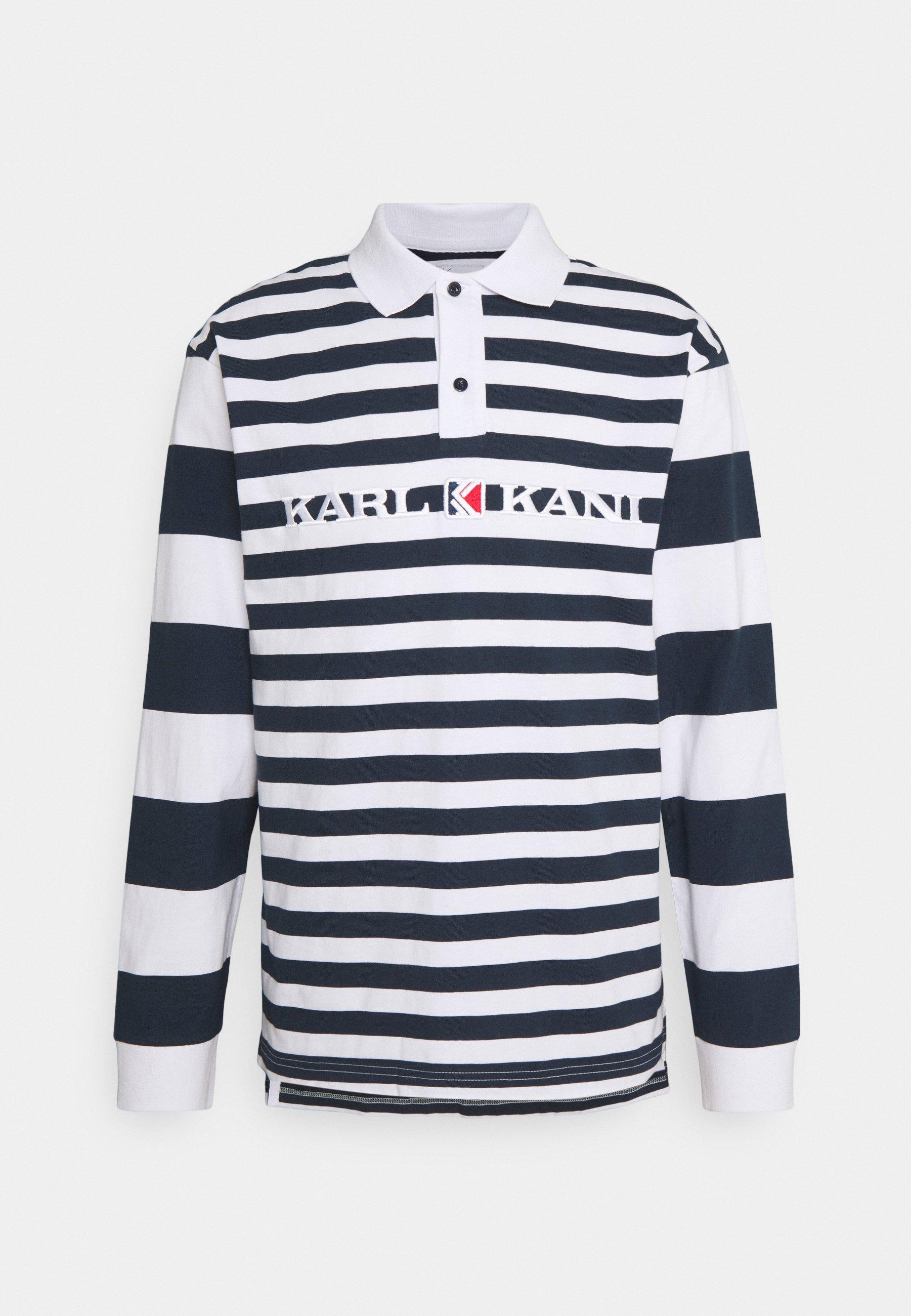 Men RETRO BLOCK STRIPE RUGBY SHIRT - Long sleeved top