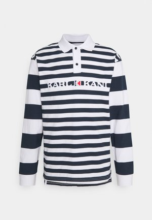 RETRO BLOCK STRIPE RUGBY SHIRT - Long sleeved top - navy