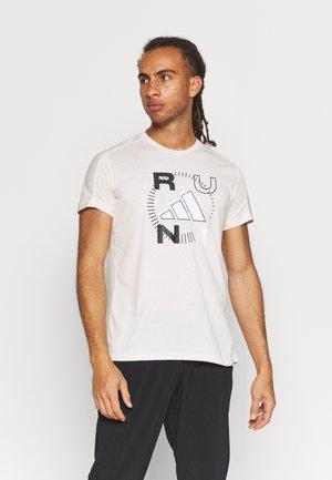 LOGO GRAPHICS AEROREADY - T-shirt med print - offwhite