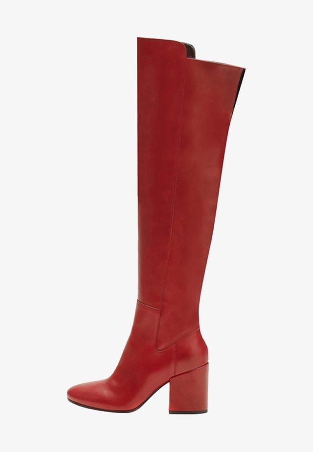 GWEN - High heeled boots - red