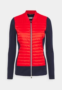 Kjus - WOMEN RETENTION JACKET - Sportovní bunda - fiery red/atlanta blue - 0