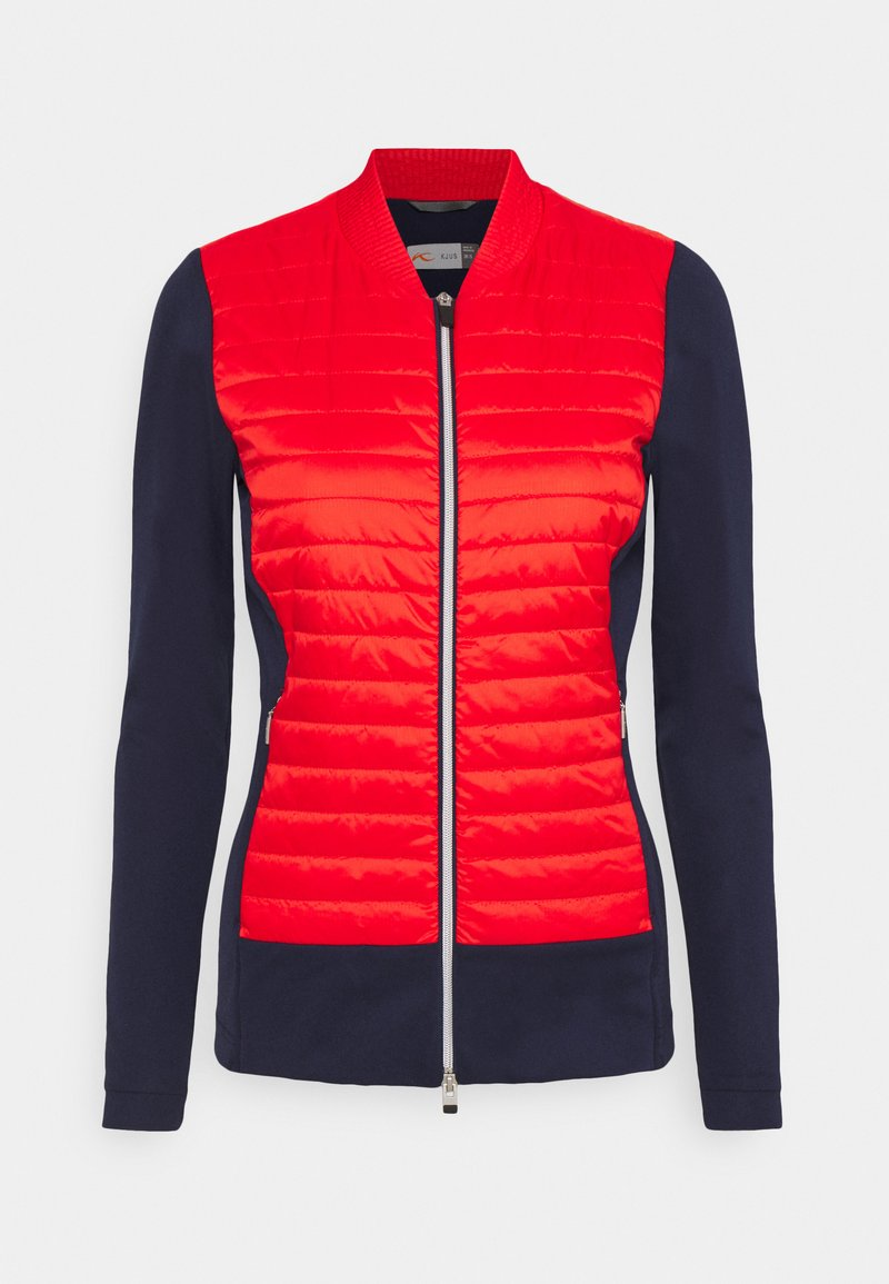 Kjus - WOMEN RETENTION JACKET - Sportovní bunda - fiery red/atlanta blue